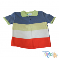 Playera Polo a Rayas Multicolor